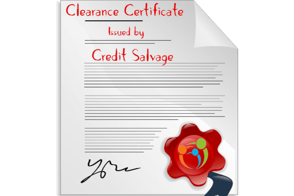 Credit Salvage Clearance Certificate